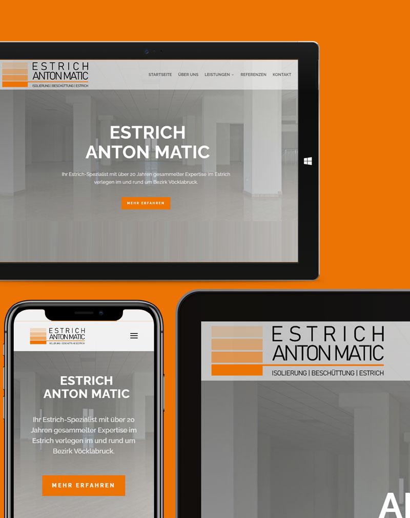 Estrich Anton Matic Webdesign Referenz