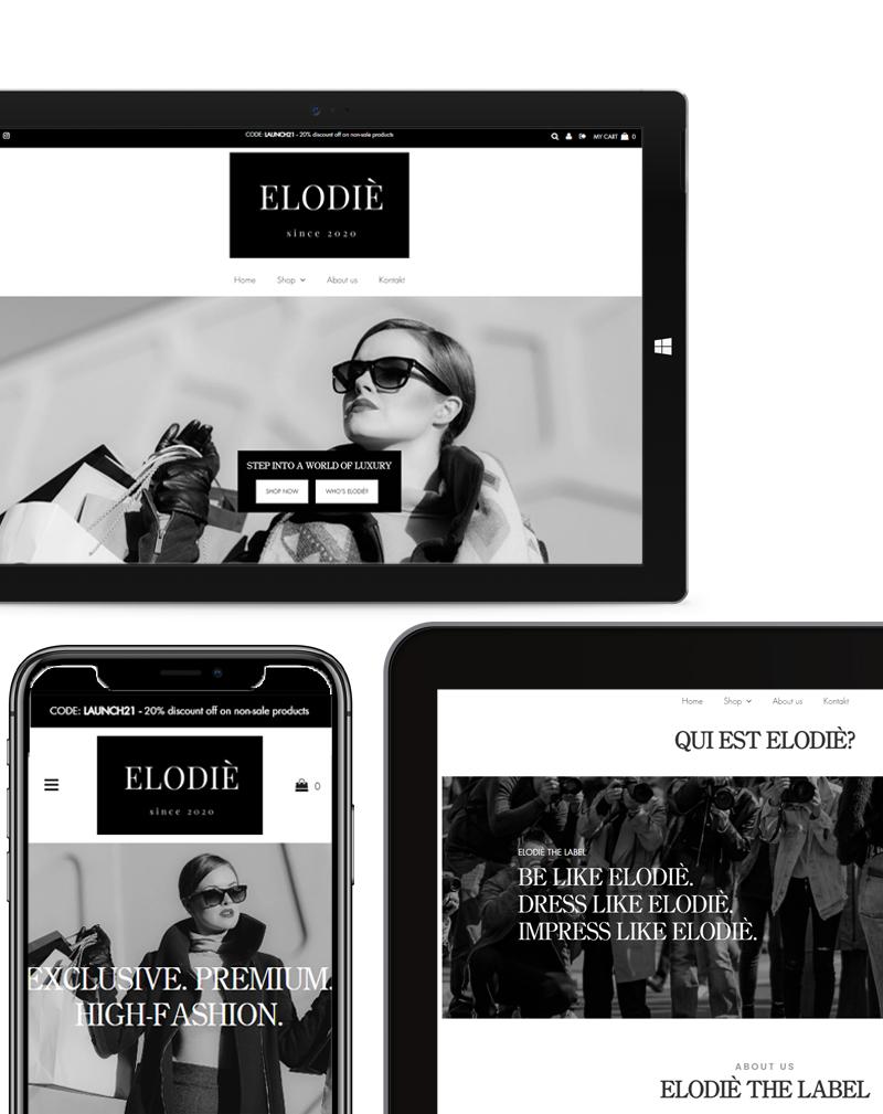 Elodie Fashion Webshop